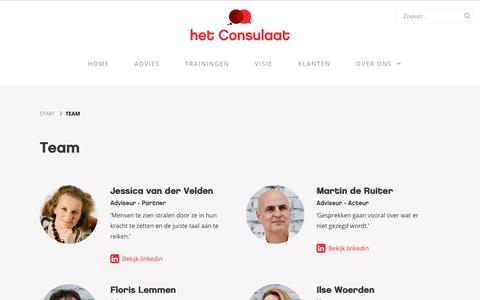 Screenshot of Team Page hetconsulaat.nl - Team - het Consulaat - captured July 19, 2018