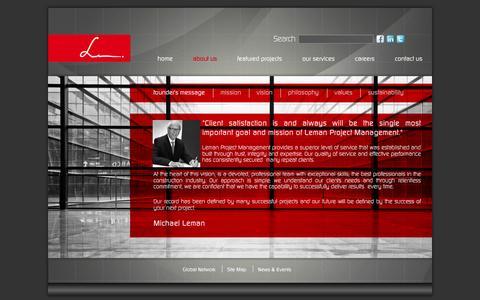 Screenshot of About Page lemanpmi.com - Leman Project Management - About Us - captured Oct. 2, 2014