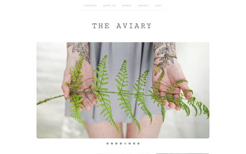 Screenshot of Home Page the-aviary.co.uk - HOME / The Aviary - captured Jan. 11, 2016