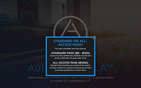 Screenshot of Signup Page laautoshow.com - Register for AutoMobility LA - Los Angeles Auto Show - captured Aug. 30, 2016
