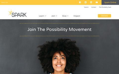Screenshot of Signup Page sparkprogram.org - Join - Spark - captured Sept. 21, 2018