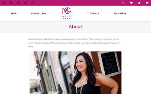 Screenshot of About Page makeupgeek.com - About - Makeup Geek - captured July 8, 2016