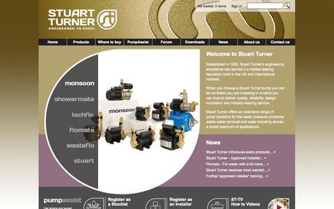 Screenshot of Home Page stuart-turner.co.uk - Pumps - Stuart Turner Residential and Commercial Pumps - captured Oct. 8, 2014