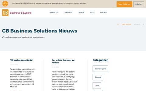 Screenshot of Blog gbsolutions.nl captured Sept. 25, 2018