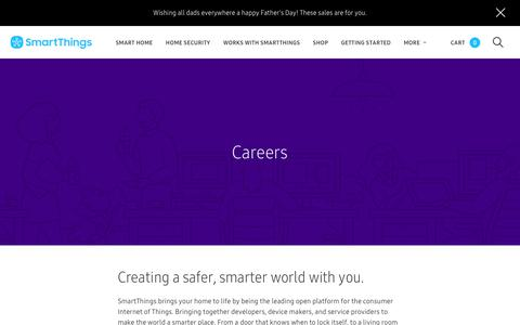 Screenshot of Jobs Page smartthings.com - SmartThings - captured June 18, 2018