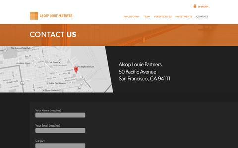 Screenshot of Contact Page alsop-louie.com - Alsop Louie Partners - captured Oct. 4, 2014