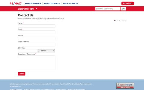 Screenshot of Contact Page remax.com - Contact Us - RE/MAX - captured July 6, 2018