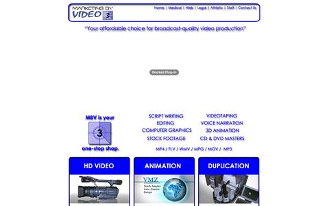 Screenshot of Home Page marketingbyvideo.com - Marketing By Video - Video Production - In Minneapolis, St. Paul,  Minnesota - captured Dec. 19, 2015
