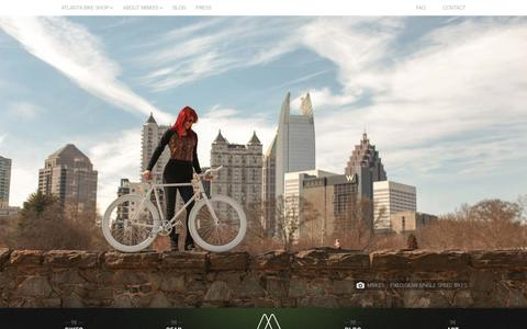 Screenshot of Home Page mbikesusa.com - Fixed Gear Single Speed Bikes | MBikes USA - captured Feb. 3, 2016