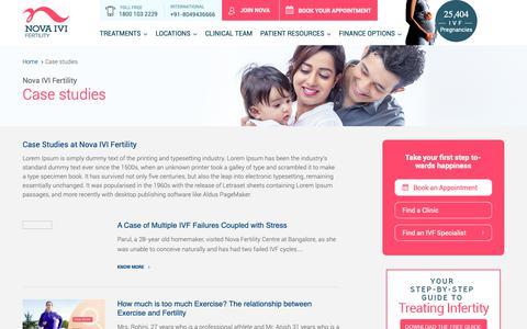 Screenshot of Case Studies Page novaivifertility.com - Case Studies - Just another WordPress site - captured April 8, 2019