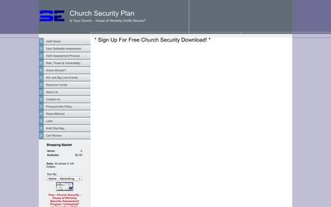 Screenshot of Signup Page surveyessentials.com - Church Security - captured Sept. 30, 2014
