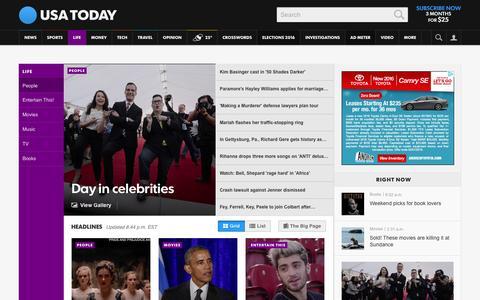 Screenshot of Team Page usatoday.com - Celebrity Photos, Videos and Interviews - USATODAY.com - captured Jan. 30, 2016