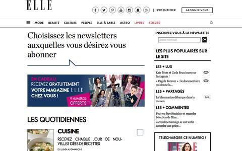 Newsletters - Elle