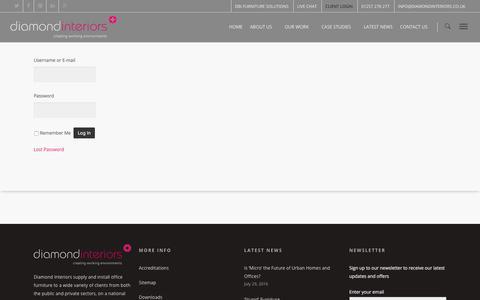 Screenshot of Login Page diamondinteriors.co.uk - Client Area - Diamond Interiors - captured Aug. 1, 2016