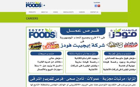 Screenshot of Jobs Page egyptfoodsgroup.com - Careers | Egypt Foods - captured Oct. 28, 2014