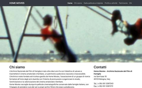 Screenshot of About Page homemovies.it - Home Movies - Archivio Nazionale del Film d Famiglia - captured Sept. 29, 2018