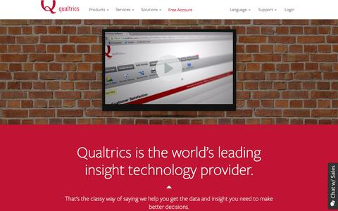 Screenshot of About Page qualtrics.com - Qualtrics | Who We Are - captured Dec. 1, 2015