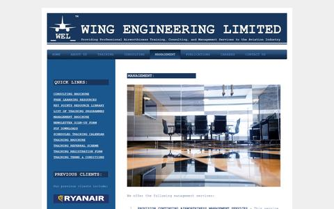 Screenshot of Team Page wingengineering.co.uk - Wing Engineering Limited - MANAGEMENT - captured Dec. 22, 2016