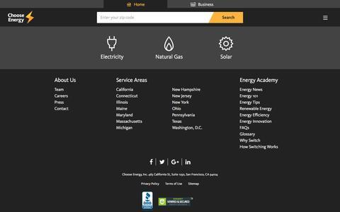 Sitemap - Choose Energy