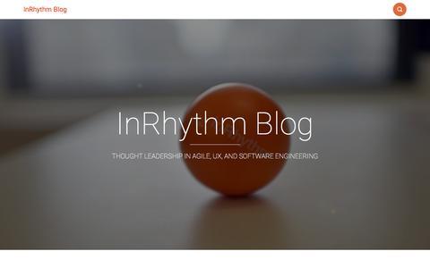Screenshot of Blog inrhythm.com - InRhythm Blog - captured Feb. 21, 2016