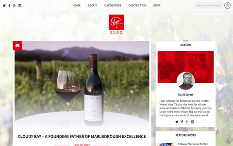 Screenshot of Blog virginwines.co.uk - Home - Virgin Wines Blog - captured July 15, 2017