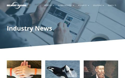 Screenshot of Blog belmont-trading.com - Industry News - Belmont Trading - captured Nov. 6, 2018