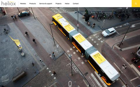Screenshot of Home Page heliox.nl - Charging solutions - Driving your fleet around the clock - captured Sept. 28, 2018