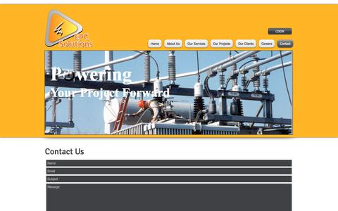 Screenshot of Contact Page epcsolutions.com.au - epc solutions, electrical contractors, project management, electrical project managers, | Contact - captured Sept. 25, 2018
