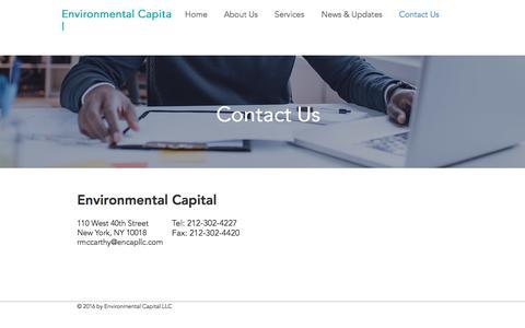 Screenshot of Contact Page encapllc.com - encap | Contact Us - captured Sept. 25, 2016