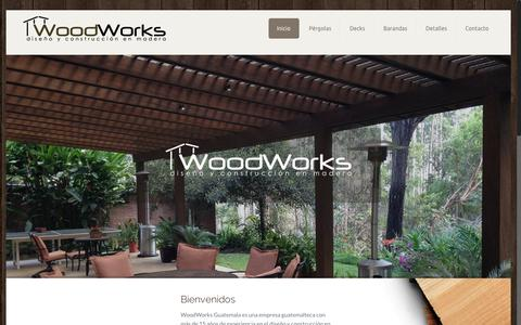 Screenshot of Home Page woodworksguate.com - WoodWorks Guatemala Trabajos en Madera - captured Aug. 31, 2015