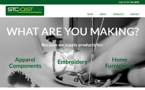 Screenshot of Home Page stc-qst.com - STC QST – Garment Inner Construction Products - captured July 25, 2018