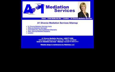 Screenshot of Site Map Page a1mediationservices.com - A1 Divorce Mediation Services - captured Sept. 30, 2014