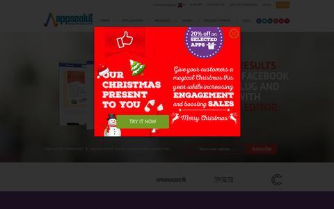 Screenshot of Home Page appssolut.com - facebook apps for business   appssolut - captured Nov. 2, 2015