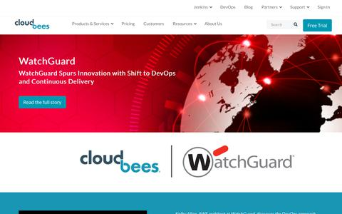 Screenshot of Case Studies Page cloudbees.com - WatchGuard Spurs Innovation with Shift to DevOps and Continuous Delivery | CloudBees - captured Aug. 8, 2018