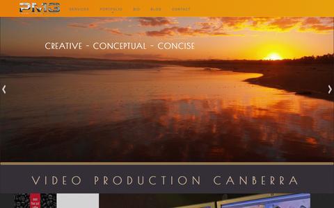 Screenshot of Home Page plummedia.com.au - Video Production Canberra | Plum Media Group - captured Jan. 29, 2016