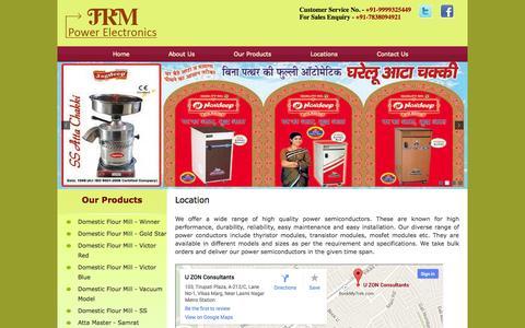 Screenshot of Locations Page jrmpowerelectronics.com - JRM Power Electronics - captured Oct. 4, 2014