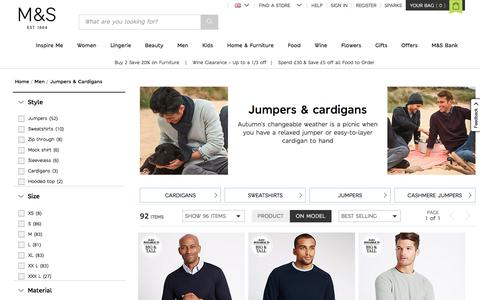Mens Jumpers & Cardigans | Luxury Knitwear For Men | M&S