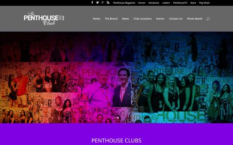 Screenshot of Home Page penthouseclubs.com - Penthouse Clubs - captured Sept. 6, 2015