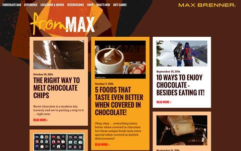 Screenshot of Blog maxbrenner.com - Max Brenner Blog - captured Oct. 27, 2014