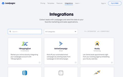 Leadpages® Integrations – Send Leads to the Tools You Use