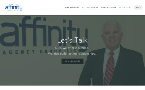 Screenshot of Contact Page affinityagencygroup.com - Affinity Phone 973-984-1000 I Fax Number I Contact Form — Affinity Agency Group, LLC - captured Feb. 5, 2016