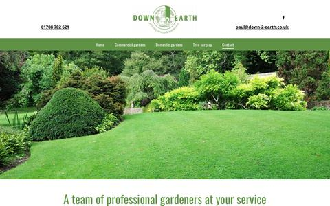 Screenshot of Contact Page down-2-earth.co.uk - Expert gardeners | Down 2 Earth Garden Services & Maintenance - captured Nov. 14, 2018