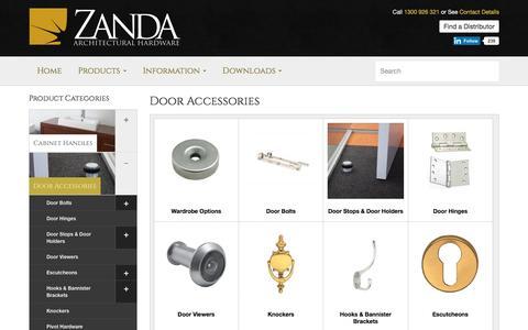 Door Accessories | Door Lock Accessories | Zanda