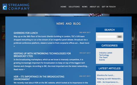 Screenshot of Press Page thestreamingcompany.com - Video Streaming & Broadcasting News by The Streaming Company - captured Nov. 17, 2017