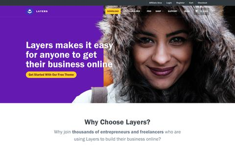 Screenshot of Home Page layerswp.com - Layers - WordPress Site Builder | Layers - captured Nov. 24, 2017