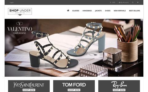 Screenshot of Home Page shopunder.com - Designer Handbags, Sunglasses and Accessories - captured July 21, 2016