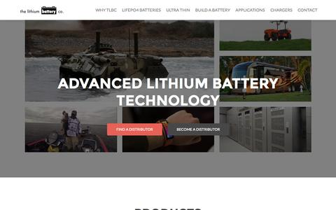 Screenshot of Home Page lithiumbatterycompany.com - Lithium Ion Batteries - Lithium Battery Company - Advanced Lithium Battery Technology. Re Inventing lithium batteries using the best manufacturing techniques and parts to make our products, they offer the most attractive benefits compared to other Li - captured Jan. 26, 2015