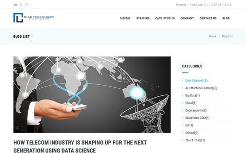 Screenshot of Blog rangtech.com - Blog | Rang Technologies - captured Oct. 20, 2018