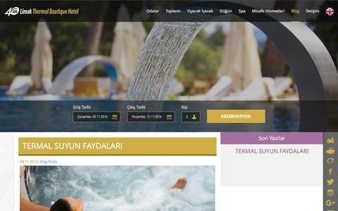 Screenshot of Blog limakthermal.com - Limak Thermal Boutique Hotel  Yalova - captured Nov. 8, 2016