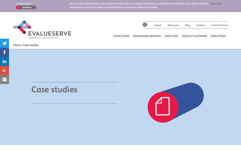 Screenshot of Case Studies Page evalueserve.com - Case studies - Evalueserve - captured Jan. 24, 2018